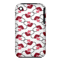 Hearts Apple Iphone 3g/3gs Hardshell Case (pc+silicone)