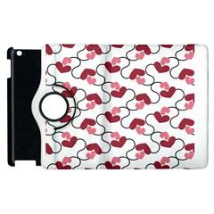 hearts Apple iPad 3/4 Flip 360 Case