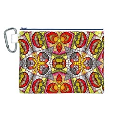 Crazy Lip Abstract Canvas Cosmetic Bag (Large)