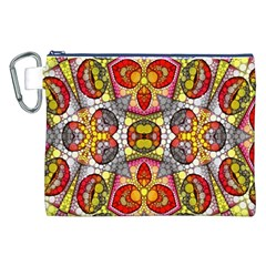 Crazy Lip Abstract Canvas Cosmetic Bag (XXL)