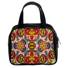 Crazy Lip Abstract Classic Handbag (two Sides)