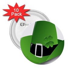 Irish Shamrock Hat152049 640 2 25  Button (10 Pack)