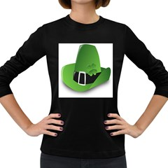 Irish Shamrock Hat152049 640 Women s Long Sleeve T Shirt (dark Colored)