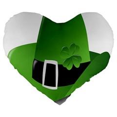 Irish Shamrock Hat152049 640 19  Premium Heart Shape Cushion