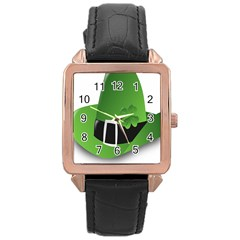 Irish Shamrock Hat152049 640 Rose Gold Leather Watch