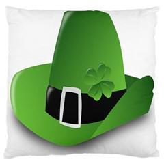 Irish Shamrock Hat152049 640 Large Flano Cushion Case (Two Sides)