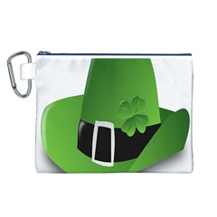 Irish Shamrock Hat152049 640 Canvas Cosmetic Bag (Large)