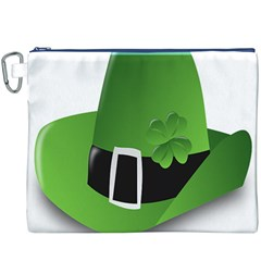 Irish Shamrock Hat152049 640 Canvas Cosmetic Bag (XXXL)