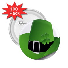 Irish Shamrock Hat152049 640 2 25  Button (100 Pack)
