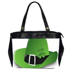 Irish Shamrock Hat152049 640 Oversize Office Handbag (two Sides)