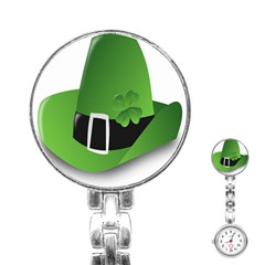 Irish Shamrock Hat152049 640 Stainless Steel Nurses Watch