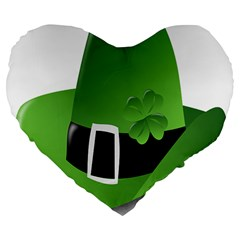 Irish Shamrock Hat152049 640 19  Premium Flano Heart Shape Cushion