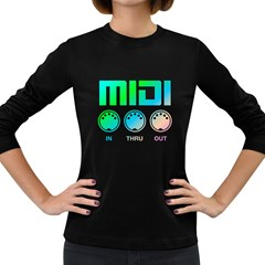 Midi Colorful Women s Long Sleeve T-shirt (Dark Colored)
