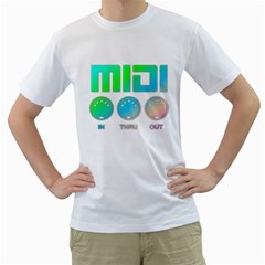 Midi Colorful Men s T-Shirt (White)