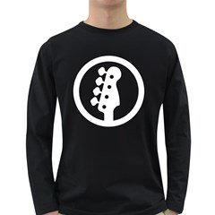 White Bass Sign Men s Long Sleeve T-shirt (Dark Colored)