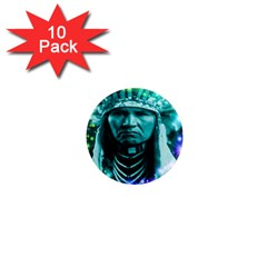 Magical Indian Chief 1  Mini Button Magnet (10 Pack)