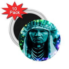 Magical Indian Chief 2 25  Button Magnet (10 Pack)
