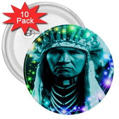 Magical Indian Chief 3  Button (10 Pack)