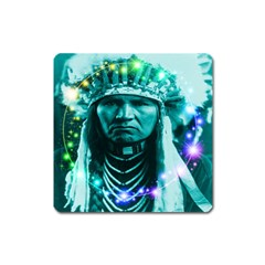 Magical Indian Chief Magnet (square)