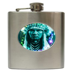 Magical Indian Chief Hip Flask