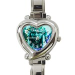 Magical Indian Chief Heart Italian Charm Watch  Front