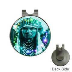Magical Indian Chief Hat Clip With Golf Ball Marker
