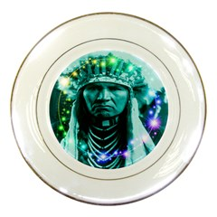 Magical Indian Chief Porcelain Display Plate
