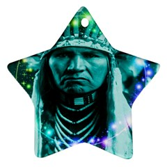 Magical Indian Chief Star Ornament (two Sides)