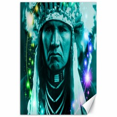 Magical Indian Chief Canvas 20  X 30  (unframed)