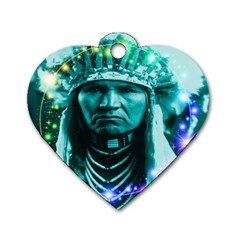 Magical Indian Chief Dog Tag Heart (Two Sided)