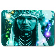 Magical Indian Chief Large Door Mat