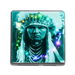 Magical Indian Chief Memory Card Reader With Storage (square)