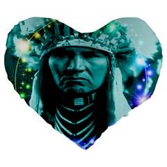 Magical Indian Chief 19  Premium Heart Shape Cushion