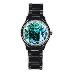 Magical Indian Chief Sport Metal Watch (Black)