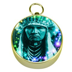 Magical Indian Chief Gold Compass
