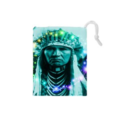 Magical Indian Chief Drawstring Pouch (small)