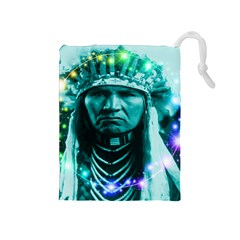 Magical Indian Chief Drawstring Pouch (Medium)