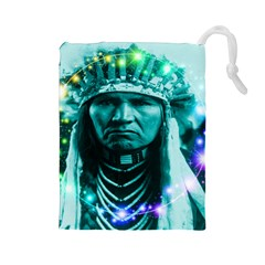Magical Indian Chief Drawstring Pouch (Large)