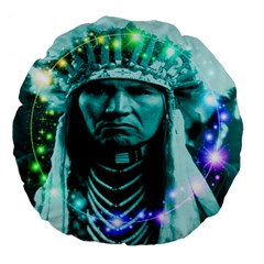 Magical Indian Chief 18  Premium Flano Round Cushion