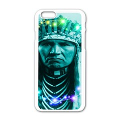 Magical Indian Chief Apple iPhone 6 White Enamel Case