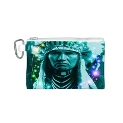 Magical Indian Chief Canvas Cosmetic Bag (Small)