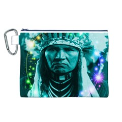 Magical Indian Chief Canvas Cosmetic Bag (Large)