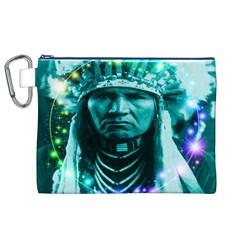 Magical Indian Chief Canvas Cosmetic Bag (XL)