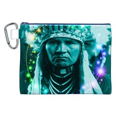 Magical Indian Chief Canvas Cosmetic Bag (XXL)