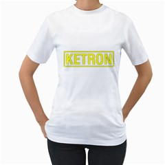 Ketron Synthesizer Yellow Women s T-Shirt (White)