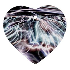 Solar Tide Heart Ornament (two Sides)