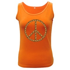 Peace,love,music Rope Women s Tank Top (dark Colored)