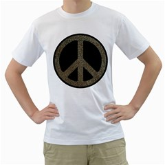 Peace,love,music Rusty Sign Men s T Shirt (white)