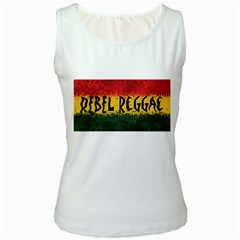 Rebel Reggae Women s Tank Top (white)