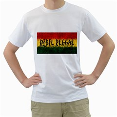 Rebel Reggae Men s T-Shirt (White)